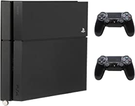 HumanCentric PS4 Mount for PS4 Original (2013 - mid 2016 Model) + 2 Controller Mounts Bundle (Black) | Mount on The Wall or on The Back of The TV | Patent Pending