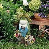 Frosch-Gartenstatuen, Kreative Frosch-Figuren, Garten Dekoration Gartenfigur, Harz Tierfigur Handwerk, Frosch Statuen für Außen Gartendeko, Lustiger Frosch Gartenzwerg Ornament, Gartendekoration