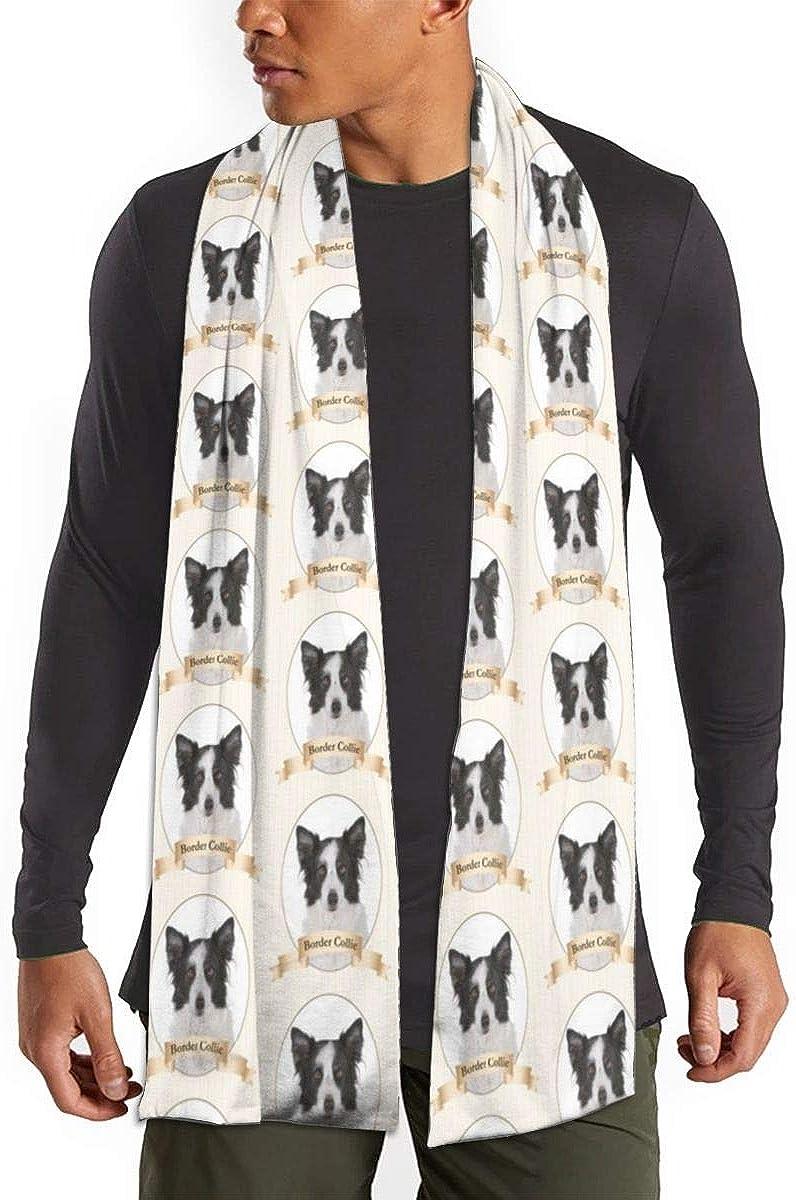 Border Collie Scarfs – Imported Lightweight Neckwear Blanket Wrap Winter Shawl