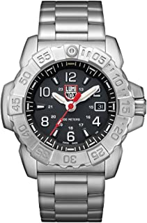 Luminox Men's SEA Swiss-Quartz Watch with Stainless-Steel Strap, Silver, 24 (Model: 3252)