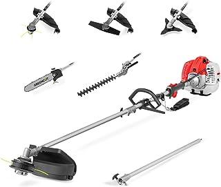 comprar comparacion GREENCUT GM650X-6 - Herramienta multifunción 6 en 1 de gasolina de 65cc, 6 accesorios, función desbrozadora + podadora + c...