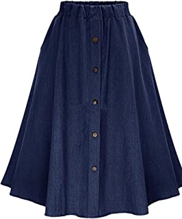 08274e53d Amazon.es: Faldas Azul Marino - Trapecio / Faldas / Mujer: Ropa