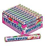 Mentos Dragees | Karton mit 40 Rollen Dragees | Multipack Kaubonbons -