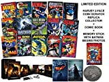 Ultimate Batman Collector's Edition Limited Gift-Set (Includes 2-Face Harvey Coin Replica, Comic Book) Batman Begins / Dark Knight / Dark knight Rises + 15 Animated Movies (Bonus: Superman Bizarro)