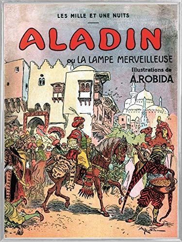 1art1 Albert Robida Póster Impresión Artística con Marco (Plástico) - Aladino Y La Lampara Maravillosa, 1001 Noches (80 x 60cm)