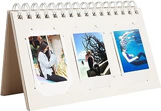 CAIUL Compatible Mini Book Album for Fujifilm Instax Mini 8 8+ 9 70 7s 25 26 50s 90 Film (Smokey White, 60 Photos)