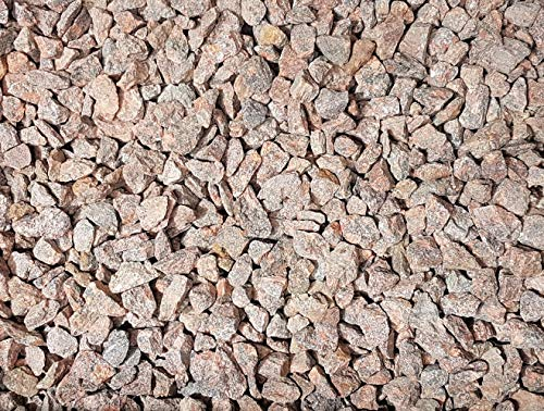 Granitsplitt rot 20 Kg Granit Splitt Zierkies Gartenkies Teichkies Waschkies 16-22 mm
