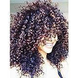 Cheveux bouclés Perruques pour femme noire, bouclés perruque, crépus frisés Afro Cheveux humains des Perruques Lace Front...