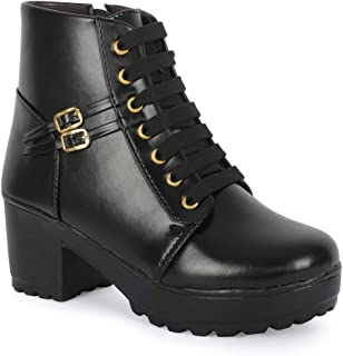 ZAPATOZ Women's Casual Stylish Heel Boot