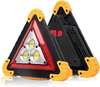 Phonleya Luz de trabajo portátil COB - 30w LED Mango ajustable para exteriores Linterna de emergencia triangular Reparació...