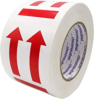 ChromaLabel 3 x 4 inch This End Up Handling Labels with Arrow Imprint | 500/Roll