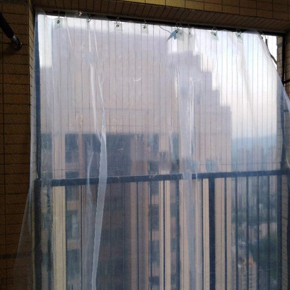 YUMUO Fenêtre de Balcon épaisse Transparente en Toile cirée étanche à l'eau et à la poussière (Taille: 2x3m) 9