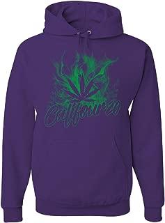 Tee Hunt Califour 20 420 Hoodie Pot Weed Smoking Cali CA 420 Marijuana Sweatshirt