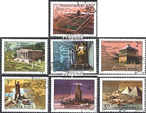 Prophila Collection Ungarn 3411A-3417A (kompl.Ausg.) 1980 Die Sieben Weltwunder (Briefmarken für Sammler)