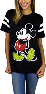Womens Mickey Mouse Varsity Football Tee
