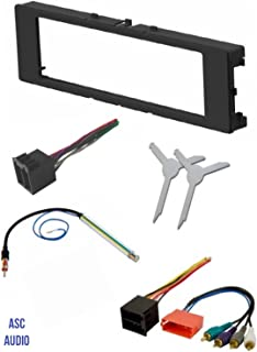 ASC Car Stereo Install Dash Kit, Wire Harness, Antenna Adapter, and Radio Removal Tool for Installing an Aftermarket Single Din Radio for 1996-1999 Audi A4 A6 A8 and 2000-2006 Audi TT Vehicles