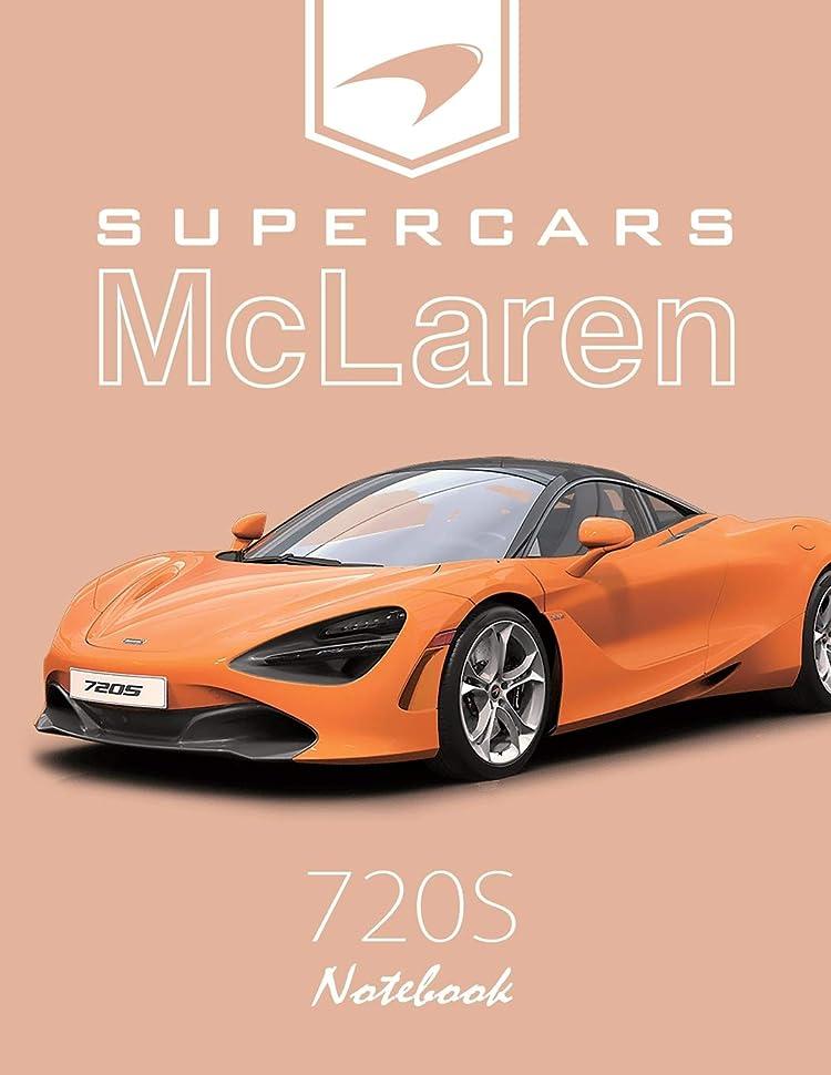 セイはさておきアート起点Supercars McLaren 720S Notebook: for boys & Men, Dream Cars McLaren Journal / Diary / Notebook, Lined Composition Notebook, Ruled,(8.5 x 11 inches) Large