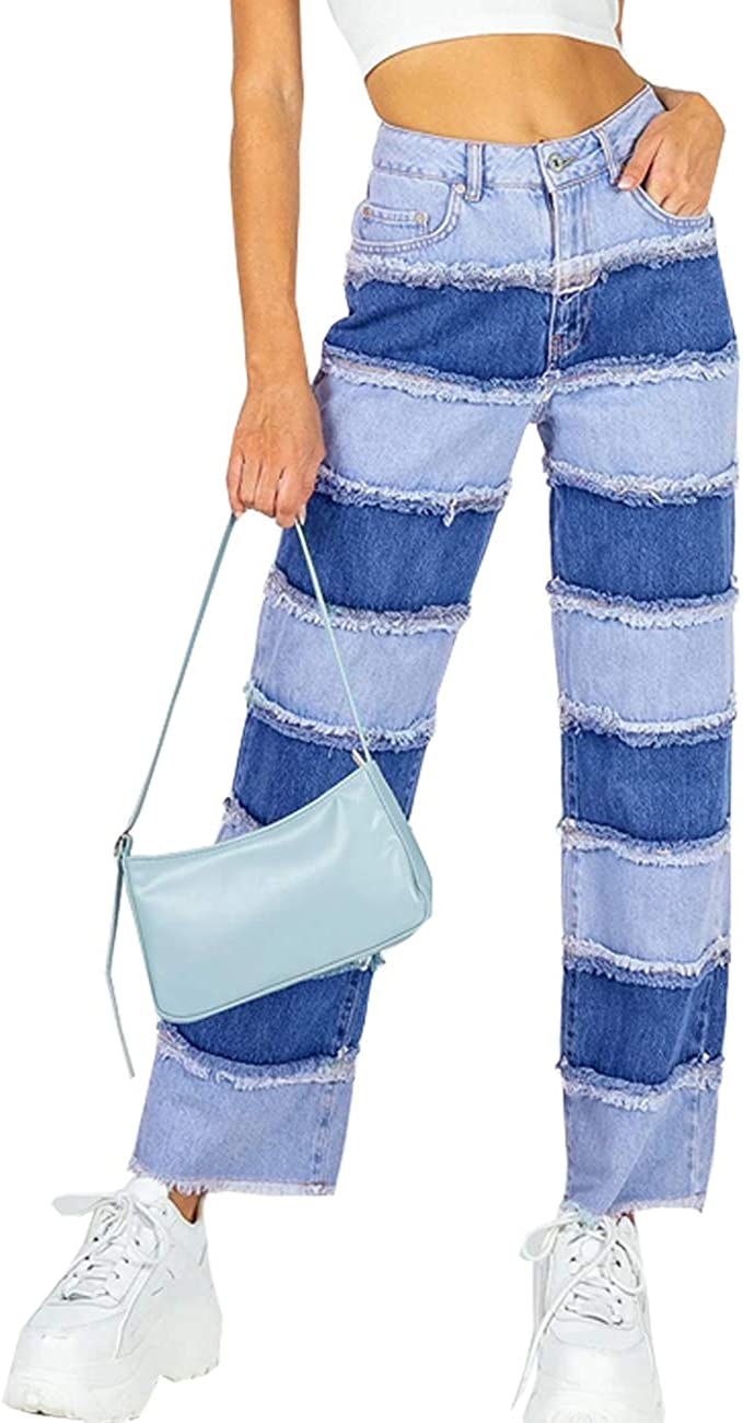 Syydn Women's High Waist Max 45% OFF Stretch St Sexy Jeans Patchwork Save money Juniors