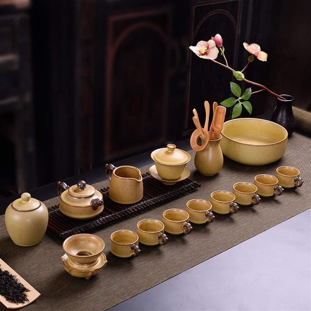 15 Theeservies Originele Vintage Was Aardewerk Bedekt Theepot Relatiegeschenken Thee (Kleur: (Koffie) (Coffee) Random Pot