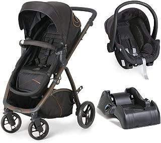 Carrinho de Bebê Travel System Maly Black Copper + Bebê Conforto + Base - Dzieco