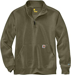 Men's Force Relaxed Fit Midweight Quarter-Zip Mock-Neck...