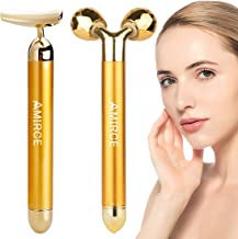 2 in 1 Electric Face Massager Roller Face Roller Kit Arm Eye Nose Massage Stone for Face Lift Anti Aging Anti Wrinkles Ski...