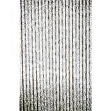 Türvorhang Flauschvorhang Sichtschutz Vorhang grau weiß 90 x 200 cm