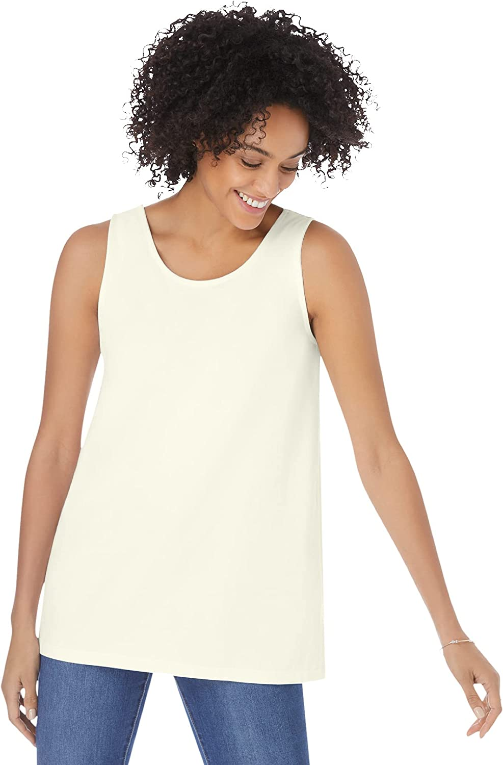 Woman Within Women's Plus Size Scoop Neck Tank Top