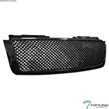 Topline Autopart Black Mesh Front Hood Bumper Grill Grille ABS For 07-14 Chevy Tahoe/Suburban/Avalanche