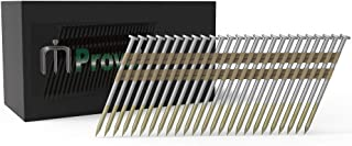 MProve Plastic Strip Collated Framing Nails - 21 Degree 3 in x 0.148 Smooth Shank [500 Nails]