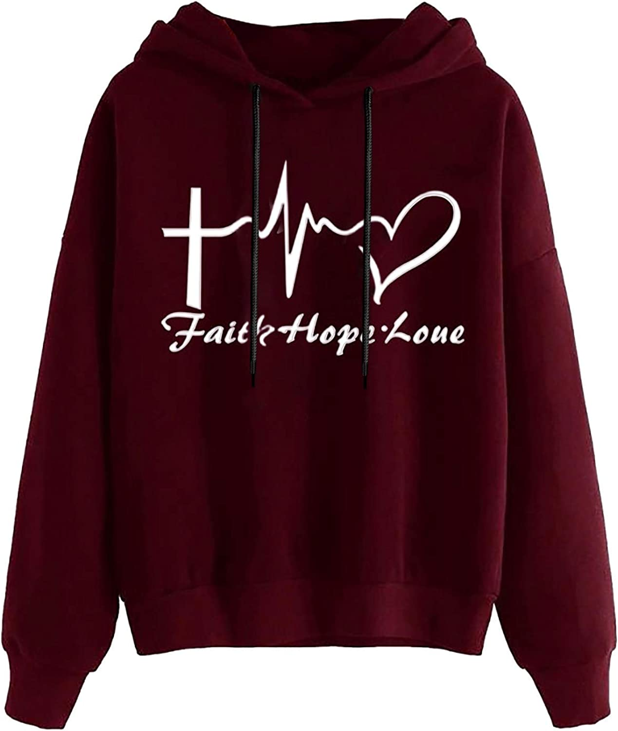 Sweatshirts for Women, Womens Long Sleeve Cute Graphic Hoodie and Sweatshirt Crewneck Loose Casual Pullover Tops