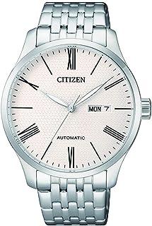 ساعة ميكانيكية بعرض انالوج و سوار ستانلس ستيل للرجال من سيتيزن - NH8350-59A