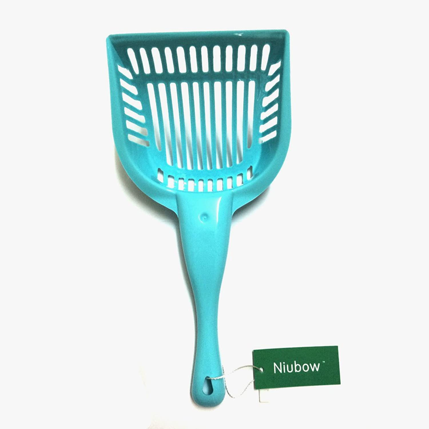 Niubow Cat Litter Scoop with Long Handle, Keeps Litter Box Area Clean of Mess (bluee)
