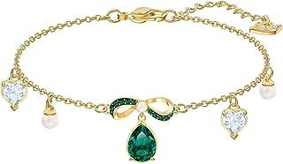 Swarovski Black Baroque Bracelet Multi Colored Gold Tone Plated