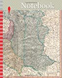 Notebook: 1799, Cary Map of Poland, Prussia and Lithuania, John Cary, 1754 – 1835, was an English cartographer, John Cary, 1754 – 1835, English cartographer