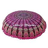 Maniona - Cojín de meditación para el suelo, 91,4 cm, diseño de mandala, color...