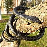 Odowalker Lifelike Rubber Black Fake Snake Looks Like Real Gag Gift Prank Joke 52 Inch for Halloween Party,April Fool's Day,Scare Friends,Garden Decor