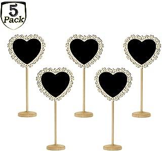 5 pcs Mini Pizarras,ZEEREE especial,tarjetas de boda,art/ículos para fiestas,n/úmeros de mesa y ocasiones especiales