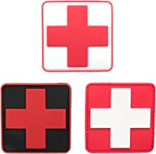 Bundle 3 Pieces - Medic Red Cross Tactical PVC Rubber Patches with Backing Appliques 2.35