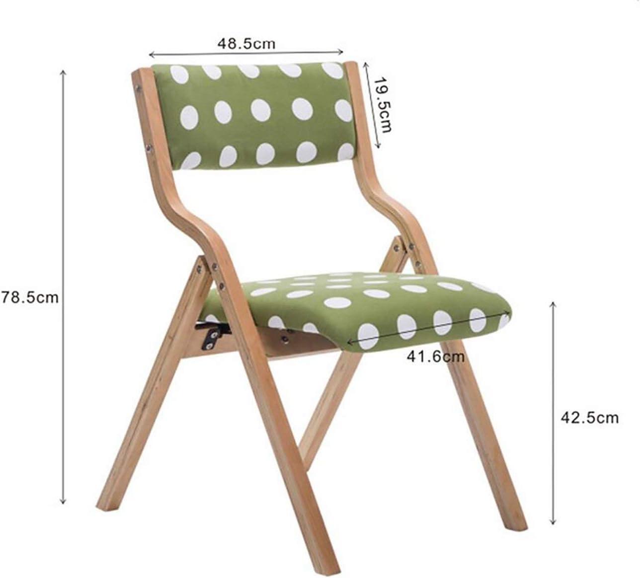 Chaise pliante Dossier Chaise de salle à manger Chaise de réception Ménage Loisirs bureau de la famille restaurant Café en bois massif (Color : A3) A6