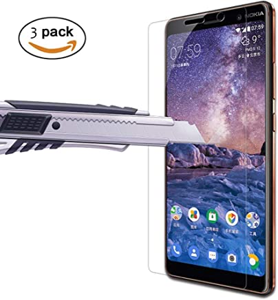 [3-Pack] Nokia 7 Plus Screen Protector, OLLIVAN Tempered Glass Screen Protector, Lifetime Warranty, 9H Hardness, Crystal Clarity, Scratch-Resistant, No-Bubble, Screen Film for Nokia 7 Plus (Transparent)