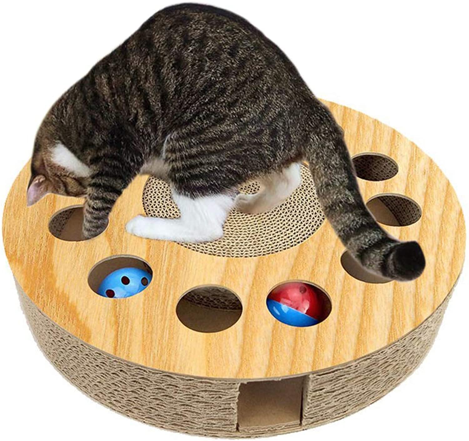 Legendog Cat Toy Wooden Interactive Funny Kitten Toys Cat Teaser Toys