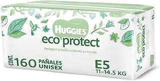 Huggies Eco Protect Pañal Desechable para bebé, Unisex, Etapa 5, Caja con 160 Pañales Desechables, Ideal para Bebés de 11 ...