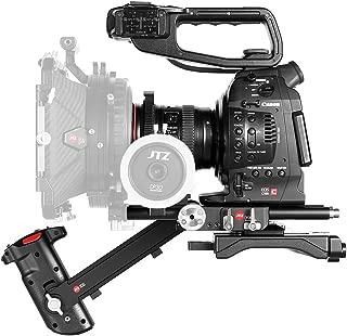 JTZ DP30 Camera Base Plate + Electronic Hand Grip Top Handle +Shoulder Rig for Canon EOS C100 C300 C500 Mark II (Focus,zoom,REC start/stop,IRIS)