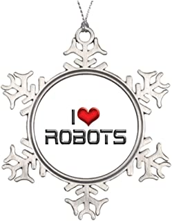 New go Tree Branch Decoration Robots Christmas Snowflake Ornament Tree