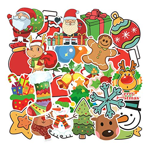 CHNLML Cool Sticker Christmas Stickers for Water Bottles Big 100pcs-Pack Cute,Waterproof,Aesthetic,Trendy Stickers for Teens,Girls Perfect for Waterbottle,Laptop,Phone,Travel Extra Durable (Christmas100pcs)
