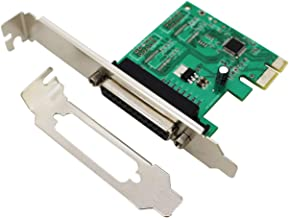 LiuTian PCIe Parallel Port Expansion Card, PCI Express to DB25 LPT Converter Adapter Controller for Desktop with Low Bracket