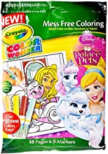 Crayola Color Wonder, Disney Princess Palace Pets, 18 Mess Free Coloring Pages & 5 Markers, Gift for Ages 3, 4, 5, 6