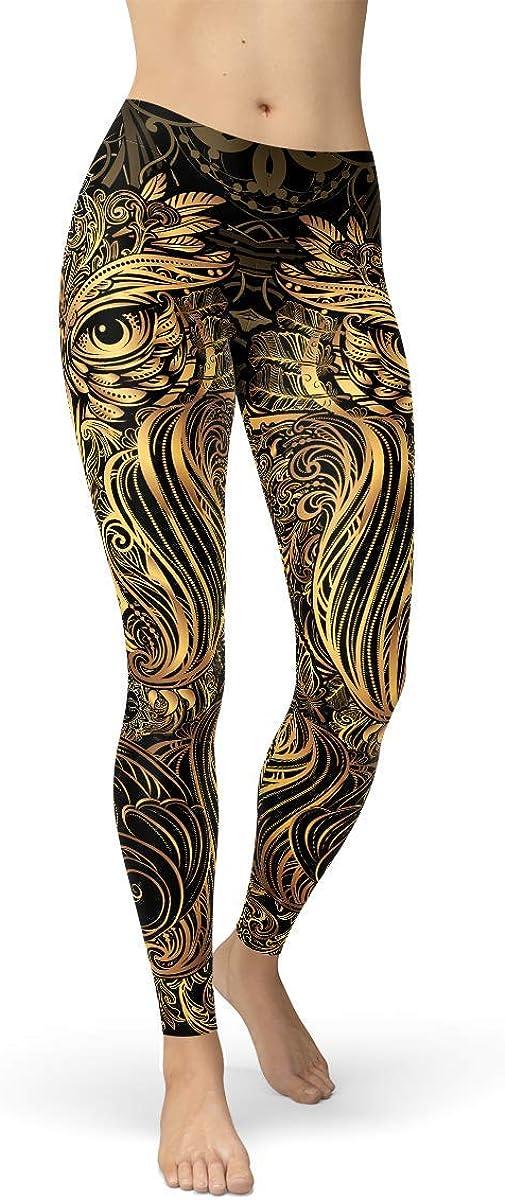 Owl Leggings for Women Mid Waist Art Pants De Black in latest Steampunk Super beauty product restock quality top