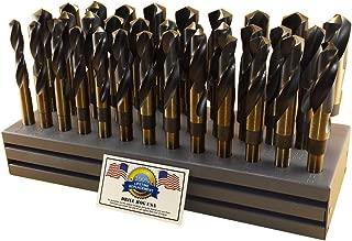 Drill Hog USA Silver & Deming Drill Bit Set Index 33 Pc 1/2-1